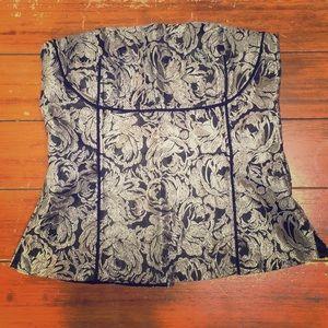 WHBM silver corset